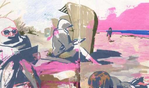 Farbstark & Kontrastreich – Mixed Media Urban Sketching