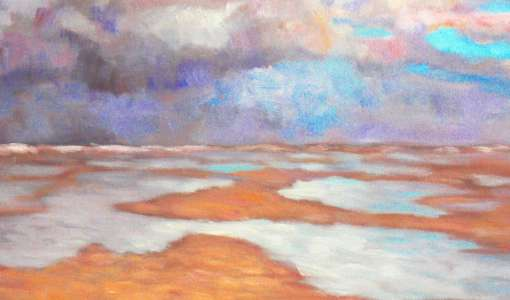 Landschaftsmalerei an der See