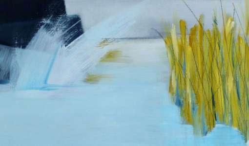 Abstrakte Landschaft - Spontane Malerei mit Ölfarben