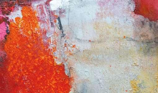 Expressive Acrylmalerei: Oberflächen-Experimente