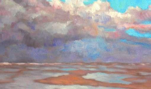 Moderne Landschaftsmalerei an der See
