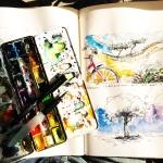 Malen lernen mit dem Pinsel und Wasserfarben